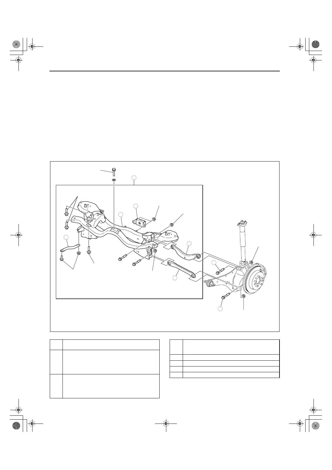 Mazda 3 Service Manual: Rear Trailing Link RemovalInstallation