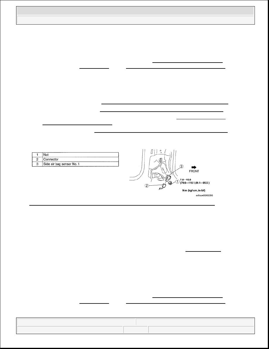 Mazda 3 Service Manual: Clock Spring Adjustment