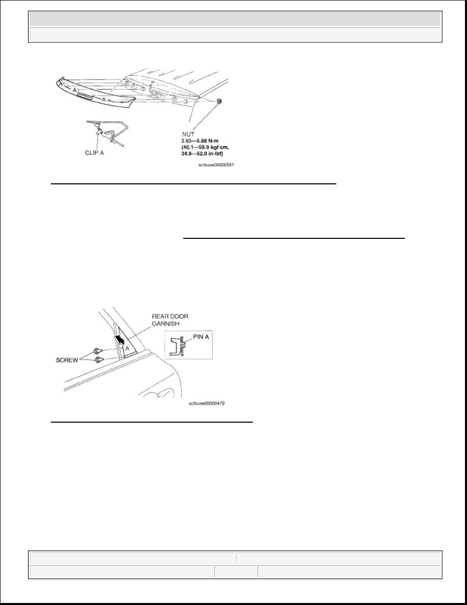 Mazda 3 Service Manual: Rear Spoiler RemovalInstallation