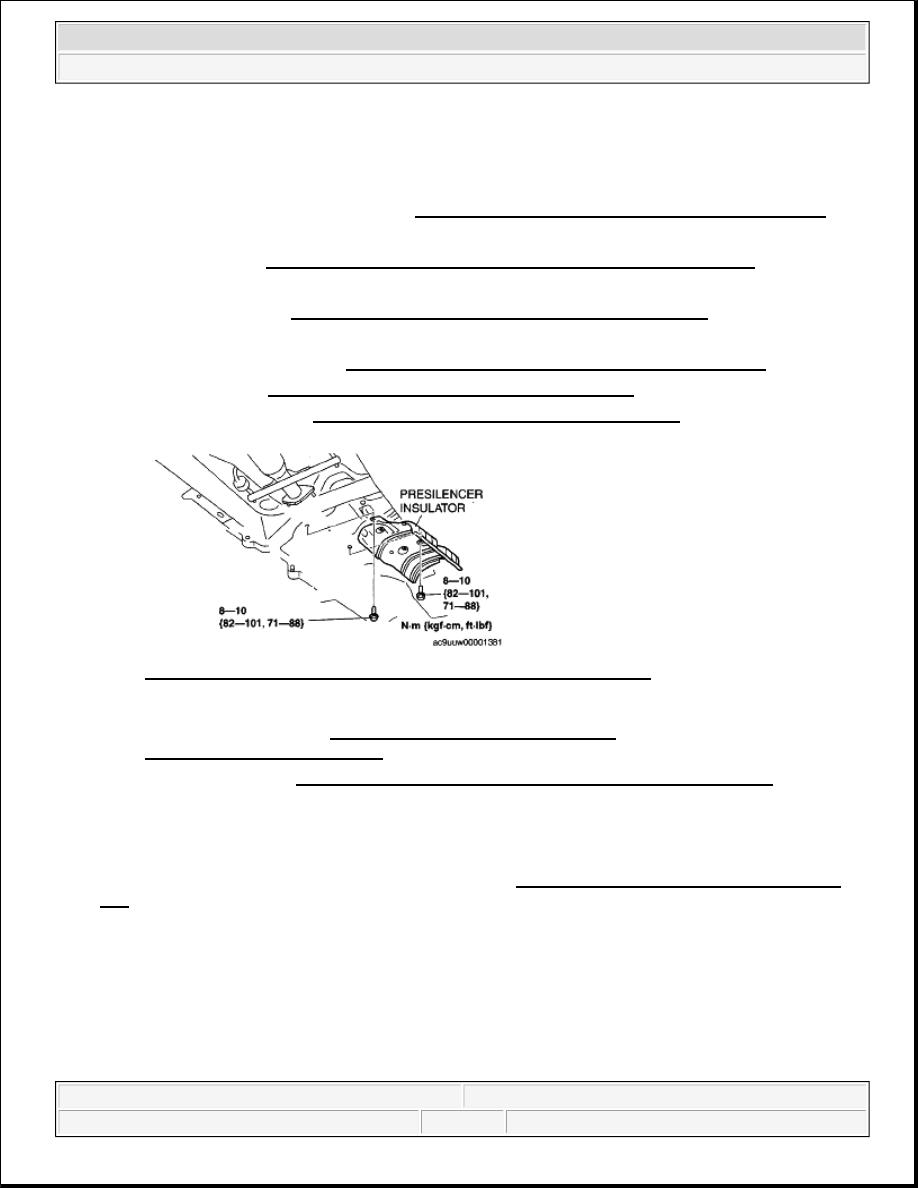 Mazda 3 Service Manual: Rear Coil Spring RemovalInstallation