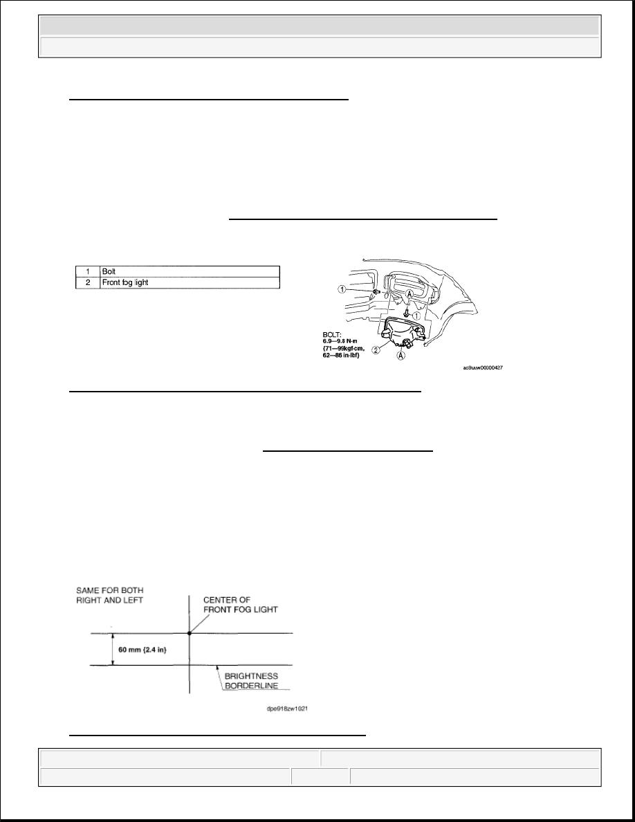 Mazda 3 Service Manual: Filament Inspection