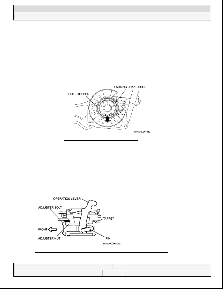 Mazda 3 Service Manual: Parking Brake Cable RemovalInstallation
