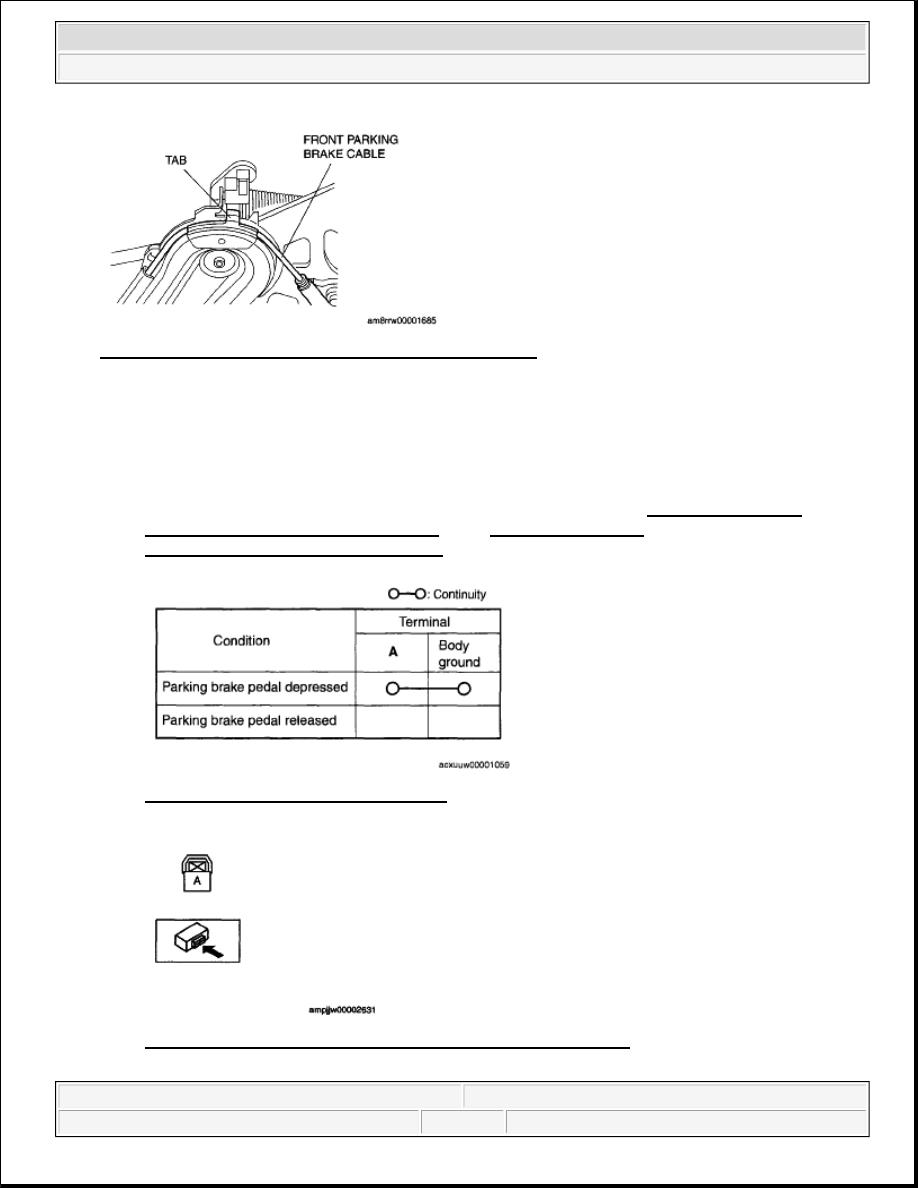 Mazda 3 Service Manual: Parking Brake Switch Inspection