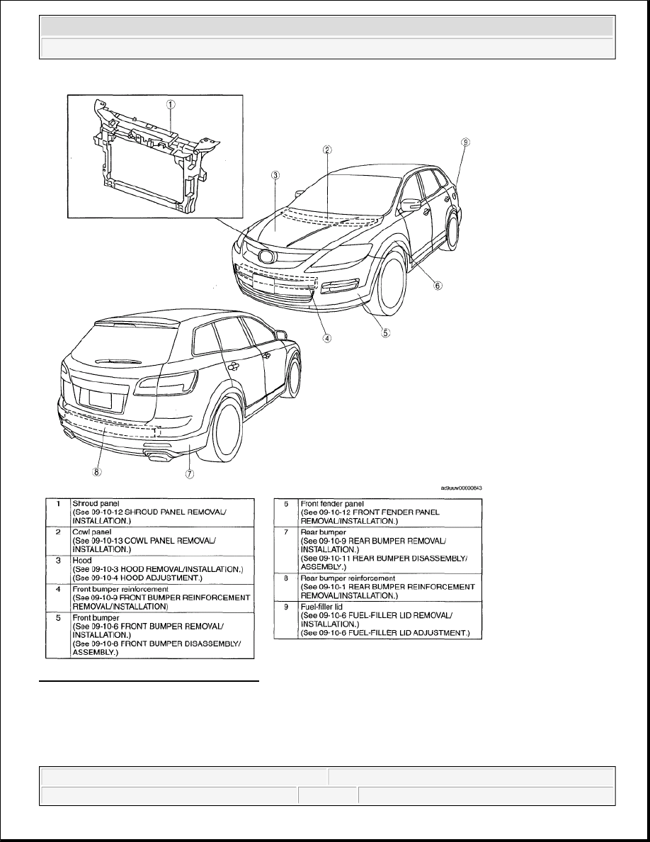 Mazda 3 Service Manual: Cowl Grille RemovalInstallation