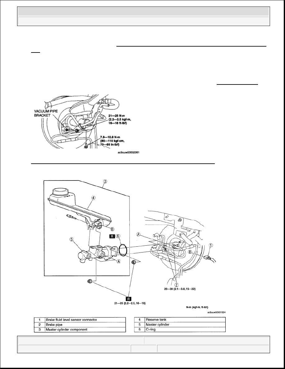 Mazda 3 Service Manual: Brake Pedal Inspection