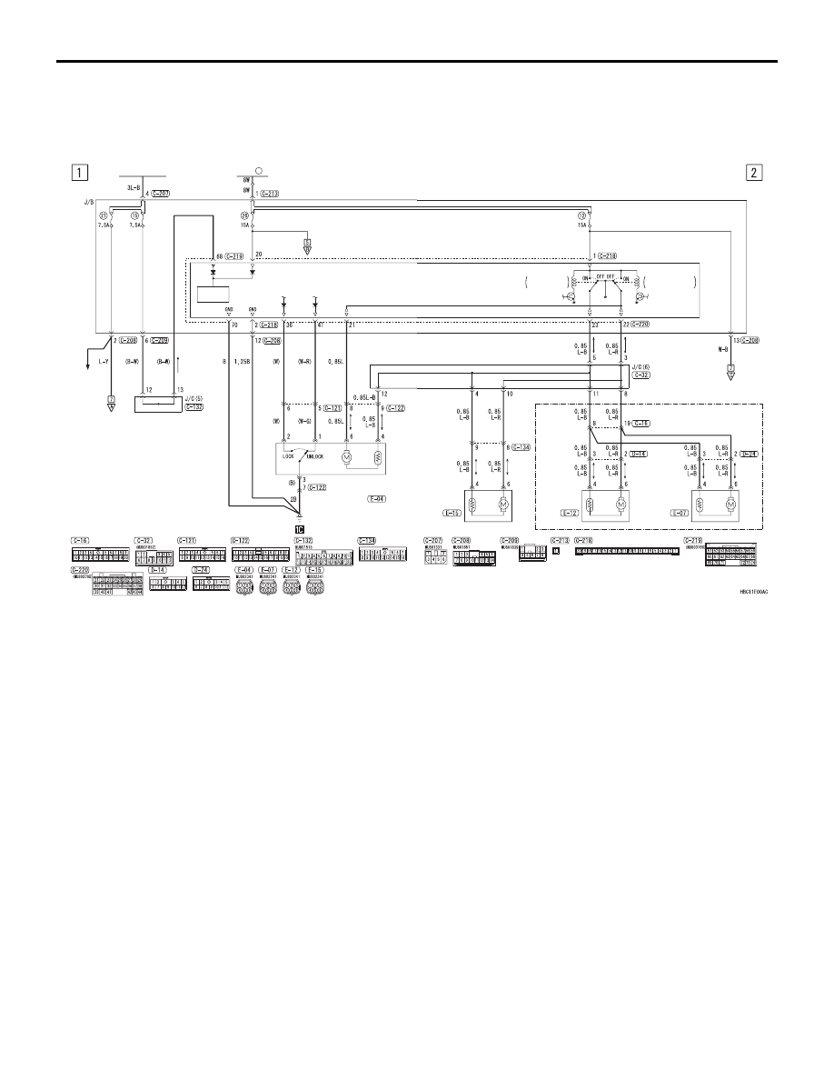 mitsubishi l200. manual - part 930 mitsubishi l200 central locking wiring diagram #3