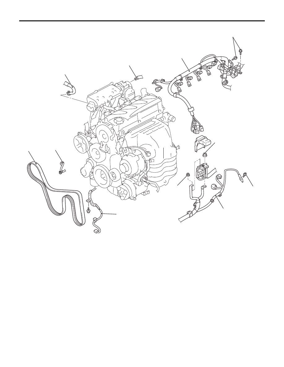 Mitsubishi Fan Belt Diagram