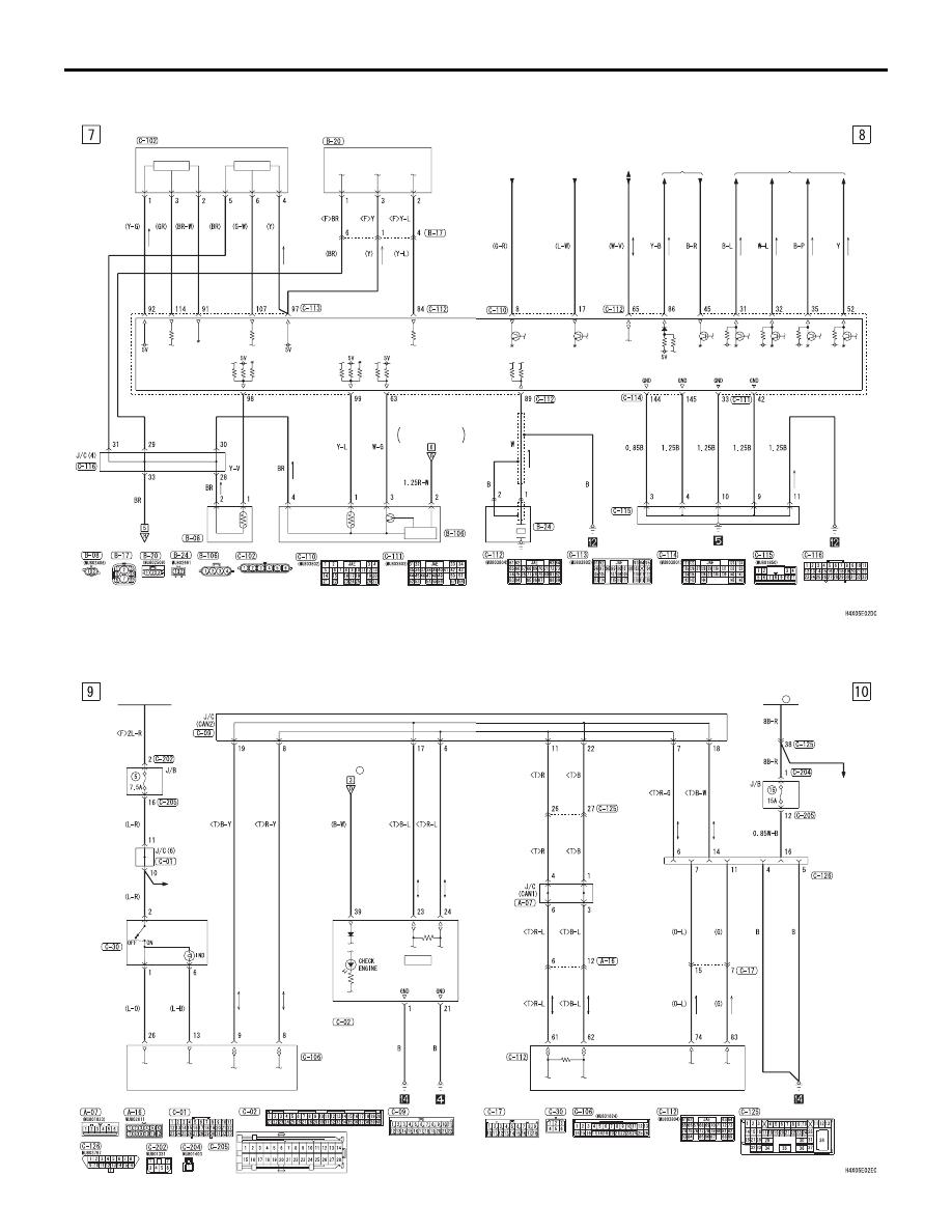 ENGINE CONTROL SYSTEM <M/T (RHD)>