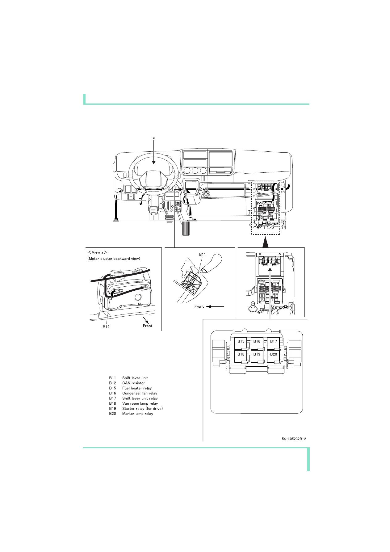 mitsubishi colt fuse box layout