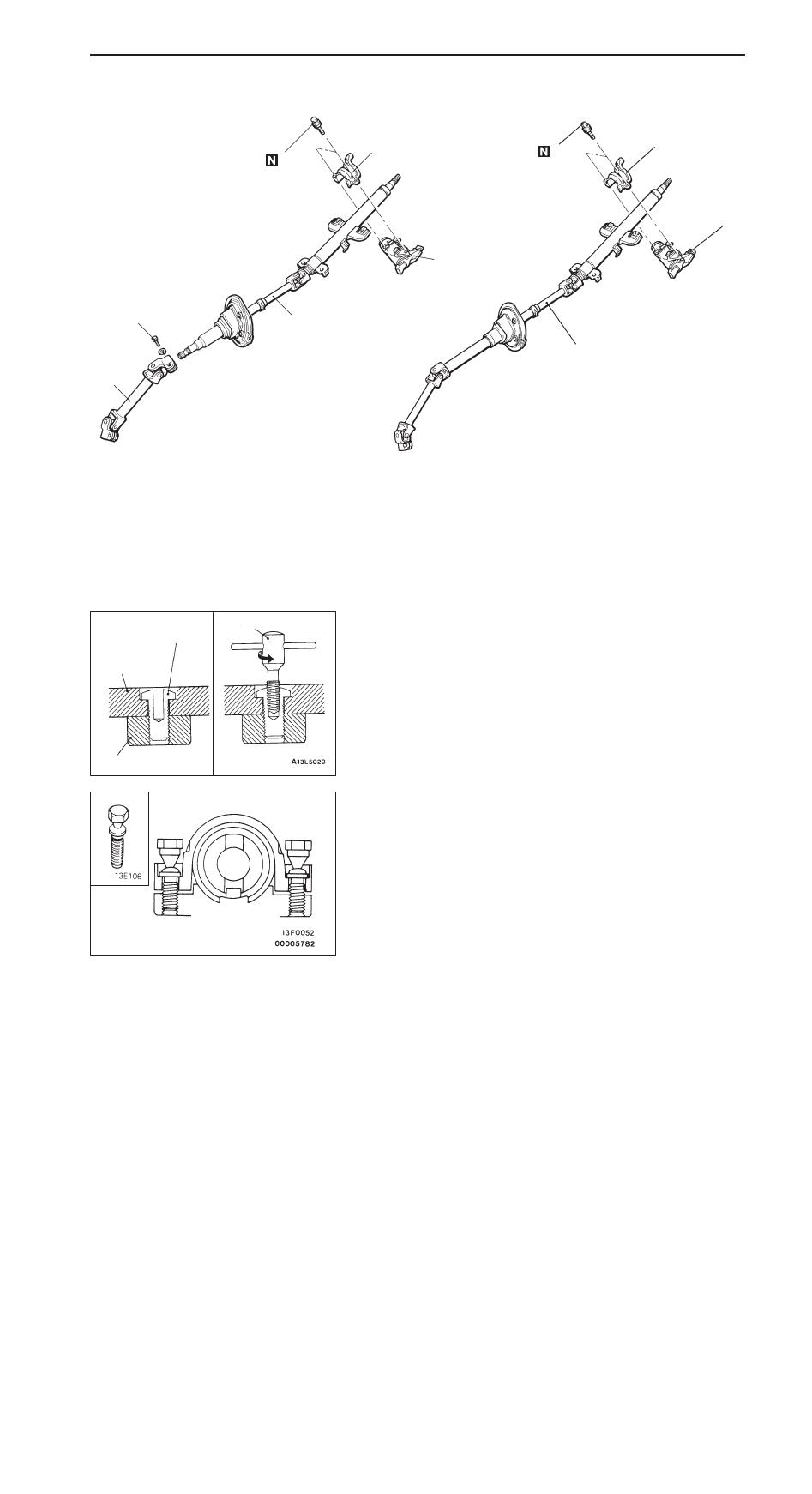 Mitsubishi Pajero Pinin Manual Part 263 Steering Diagram