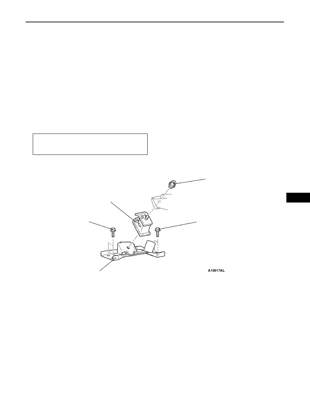 Mitsubishi Pajero Pinin Manual Part 224 Transmission Bushing Diagram Power Plant Mount