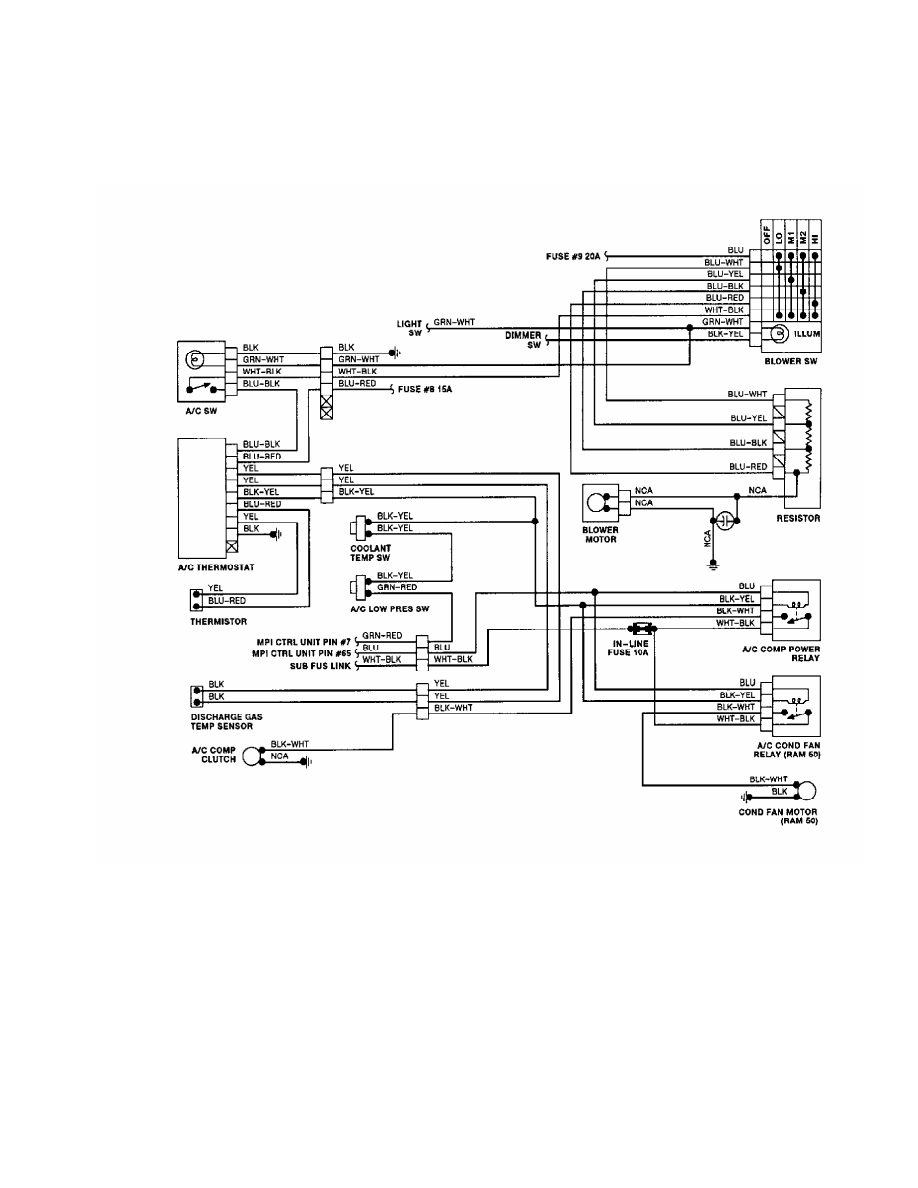 Mitsubishi Montero 1991 Manual Part 24 Ac Wiring Diagram