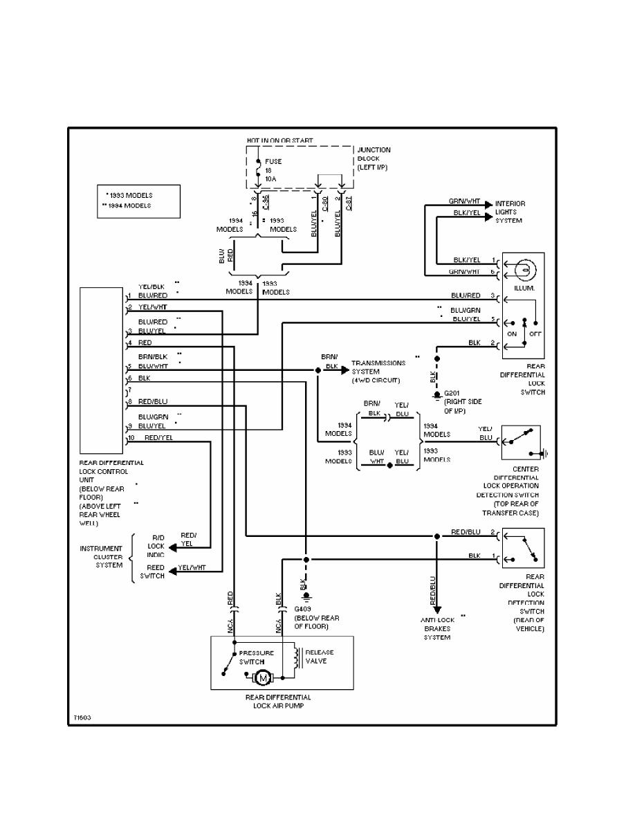 Mitsubishi Montero 1991 Manual Part 292 Pajero 94 Wiring Diagram 13 Rear Differential Lock Circuit