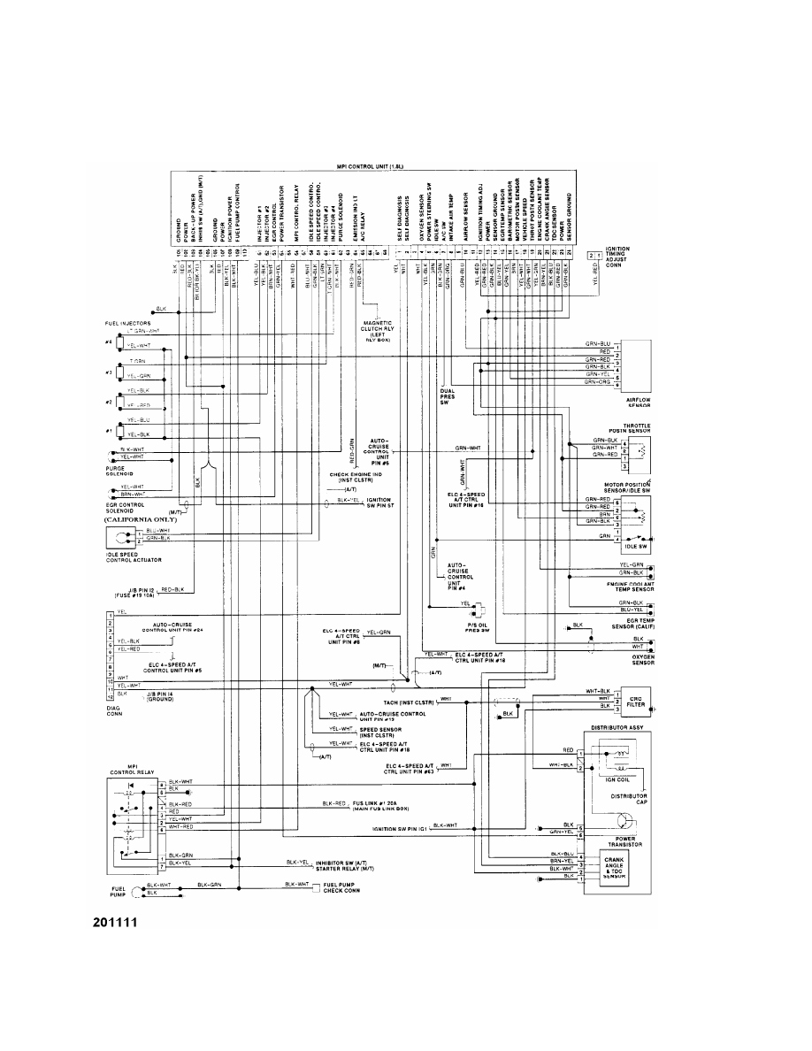 Mitsubishi Montero 1991 Manual Part 161 Wiring Diagram