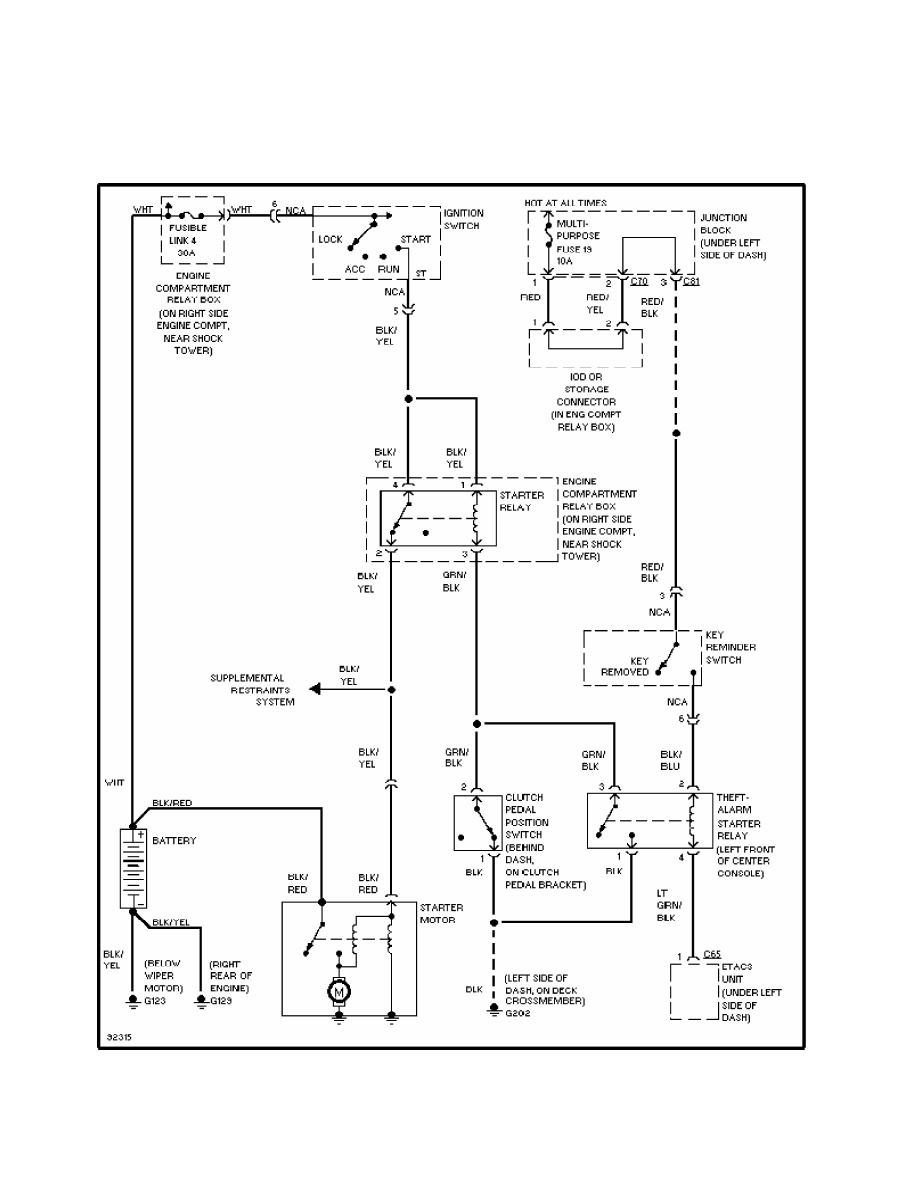 Mitsubishi Montero 1998 Manual Part 276 Starting System Wiring Diagram 20 3000gt M T With Anti Theft