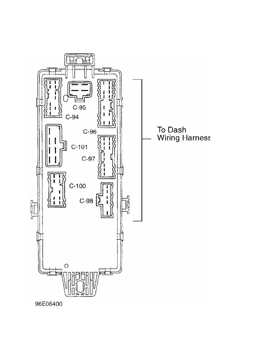 Mitsubishi Montero 1998 Manual Part 79 Wiring Harness Connectors