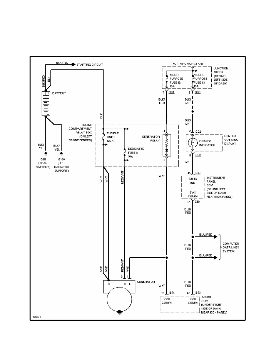 4: charging system wiring diagram (diamante)