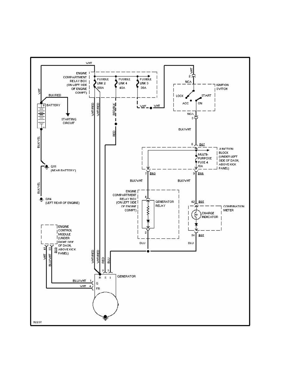1998 Mitsubishi Montero Charging Wiring Diagram Electrical Acura Slx Manual Part 198
