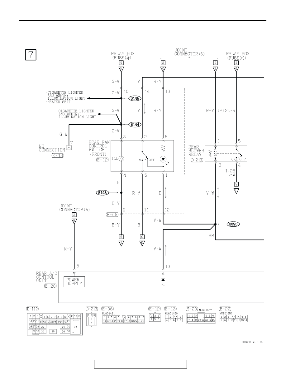 Mitsubishi Montero 2002 2004 Manual Part 154 Ac Wiring Diagram Dual Air Conditioning System Vehicles With Rear