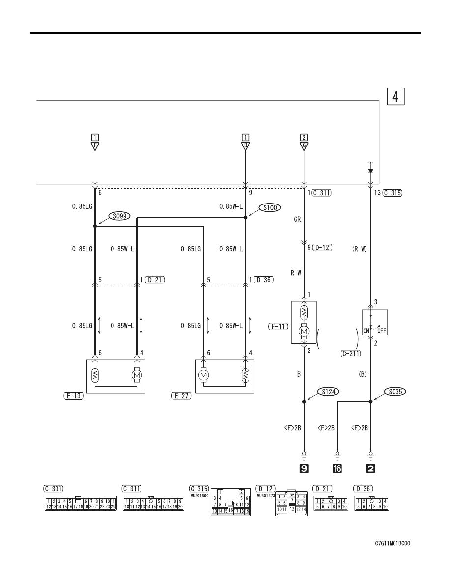 Mitsubishi Outlander Xl Manual Part 107 Central Locking Wiring Diagram