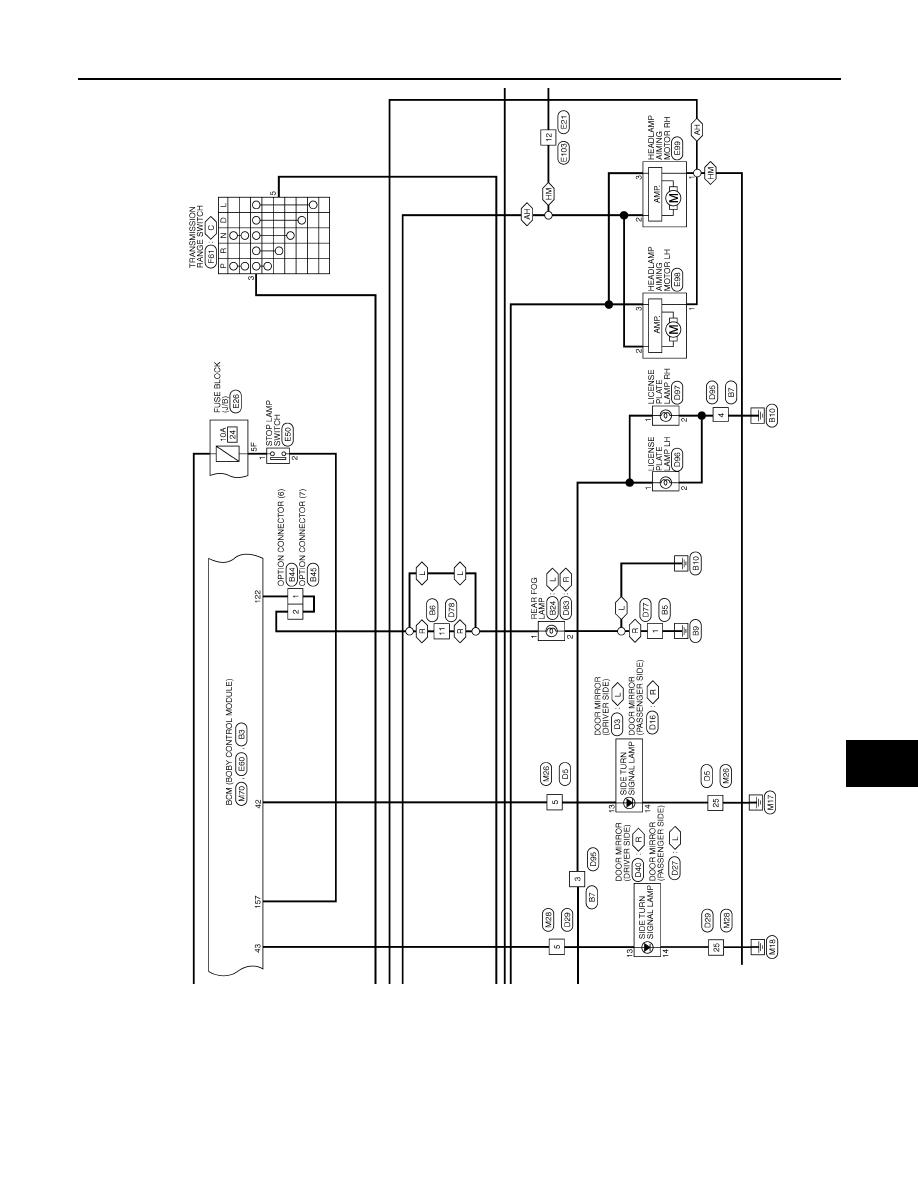 Nissan Qashqai J11 Manual Part 1688 Diagram Of Lighting System Exterior