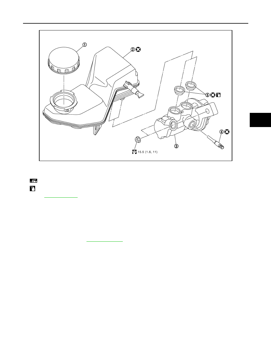 Nissan Qashqai J11 Manual Part 899 Master Cylinder Diagram Brake