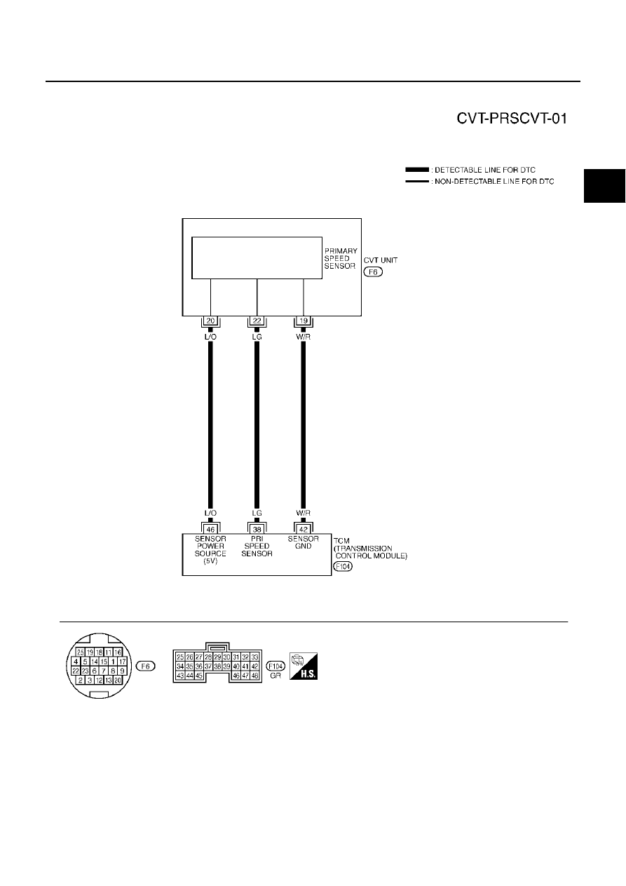 Nissan Murano Z50 (2003 year). Manual - part 66 | Speed Sensor Wiring Diagram |  | Zinref.ru