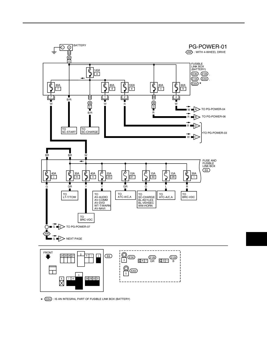 Nissan Pathfinder 2008 Fuse Box Wiring Diagram