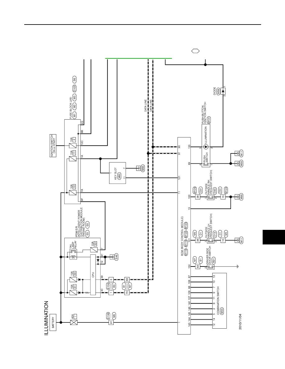 nissan gt-r (2007-2014 year). horn / interior lighting system / interior.  service manual - part 2  zinref.ru