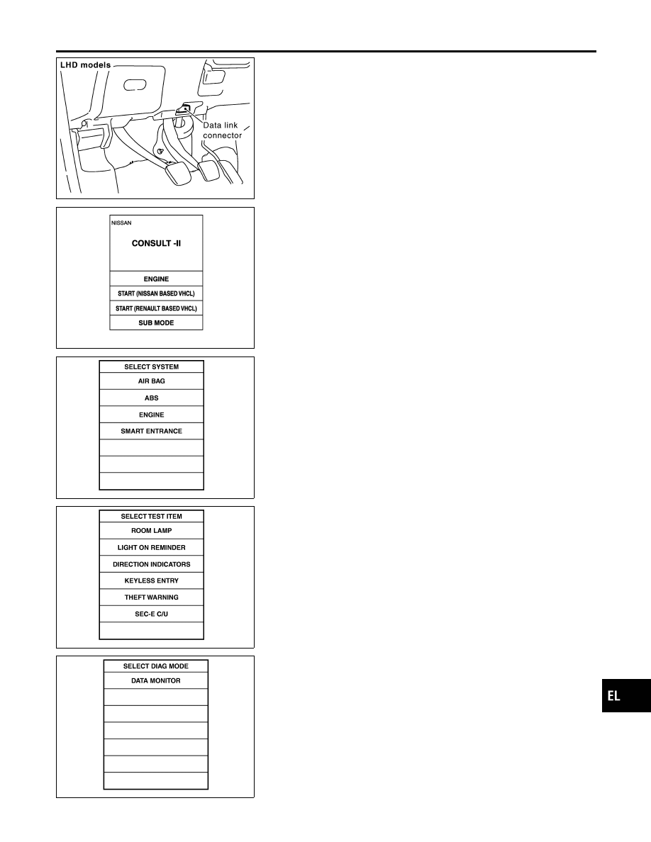 Nissan Almera Tino V10 Manual Part 708 Consult Diagram Mbib0906e