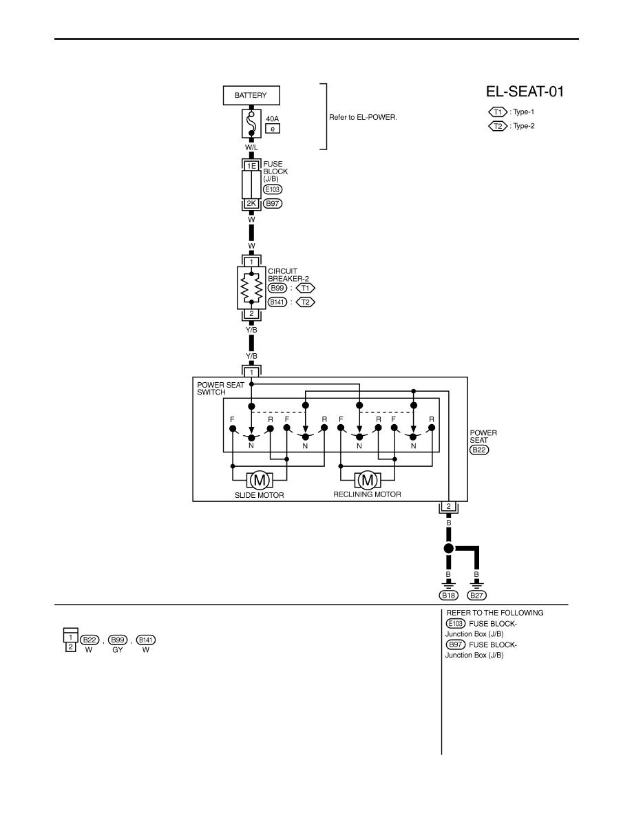 on nissan power seat wiring diagram