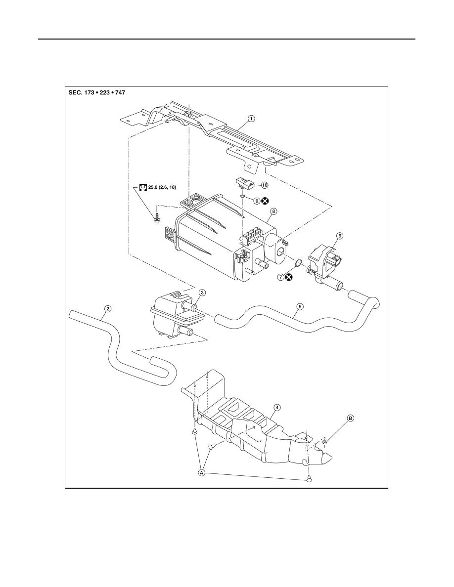 Nissan Sentra Service Manual: Fuel level sensor unit, fuel filter and fuel pump assembly