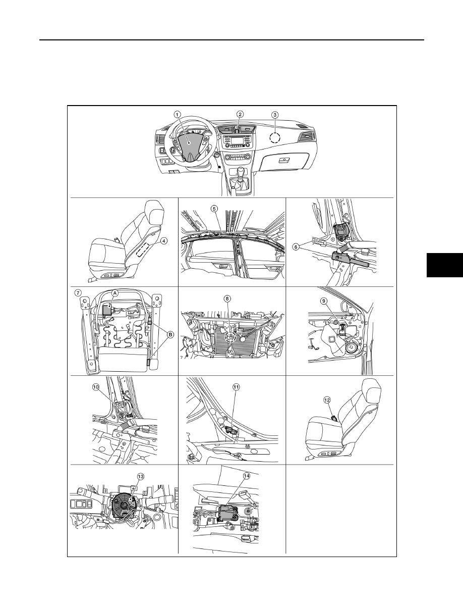 Nissan Sentra Service Manual: B00D5 Passenger air bag OFF Indicator
