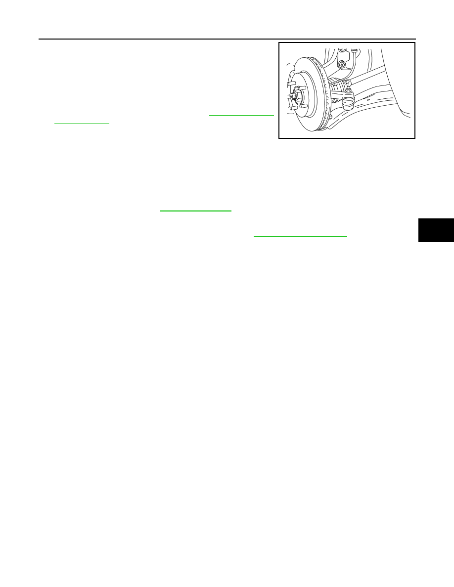 Nissan Sentra Service Manual: Steering gear and linkage