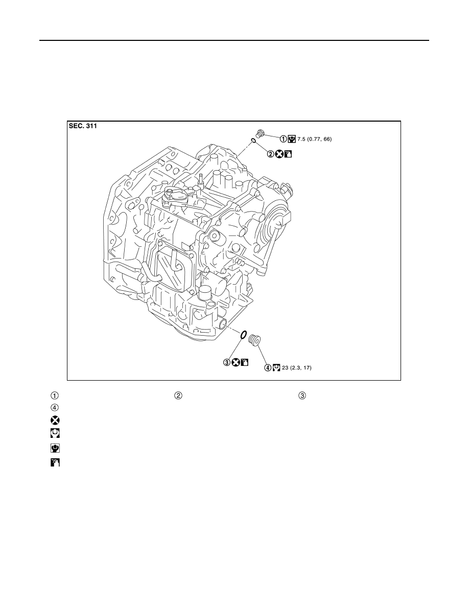 Nissan Sentra Service Manual: Engine assembly CVT