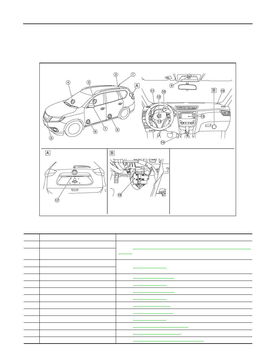 Nissan Rogue Service Manual: Map lamp assembly