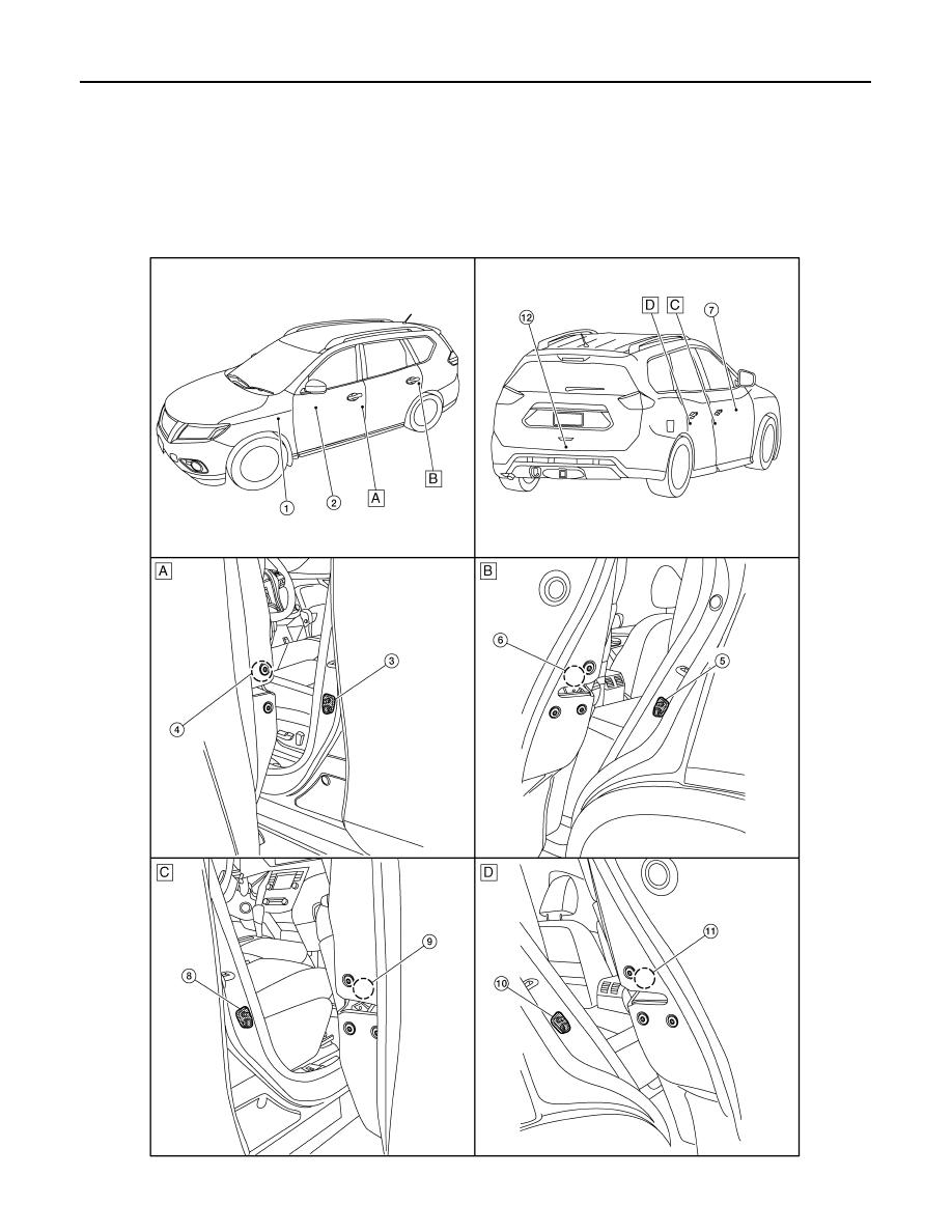 Nissan Rogue Service Manual: Component parts
