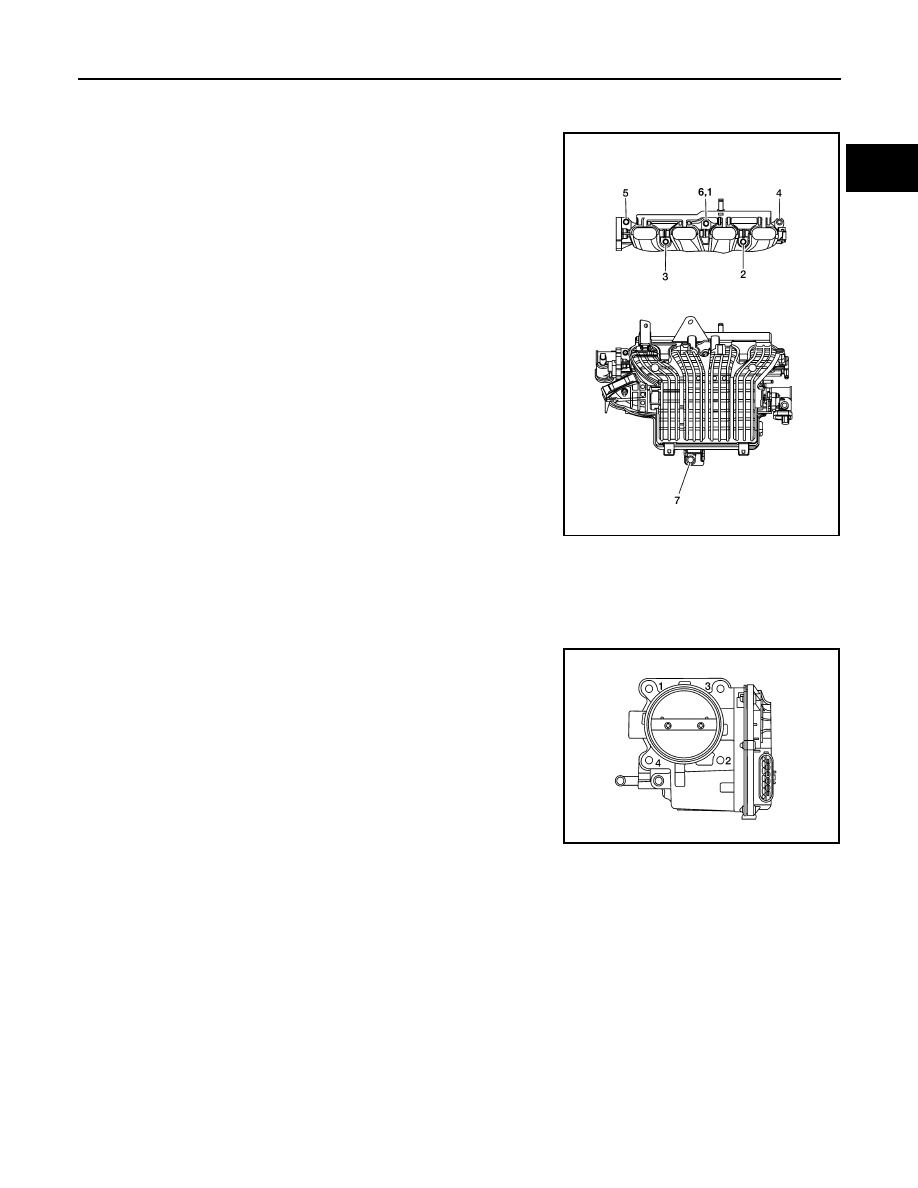 Nissan Rogue Service Manual: Exhaust manifold and three waycatalyst