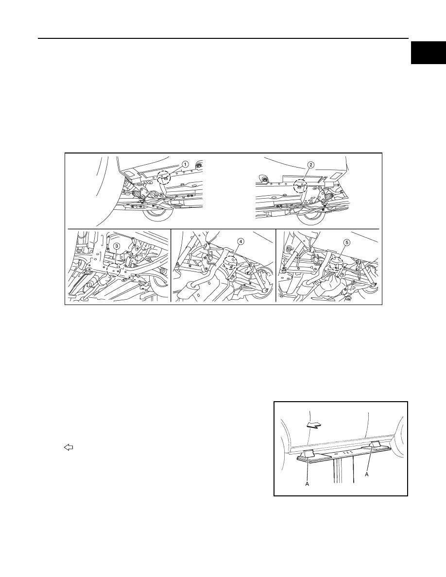 Nissan Rogue Service Manual: Lifting point