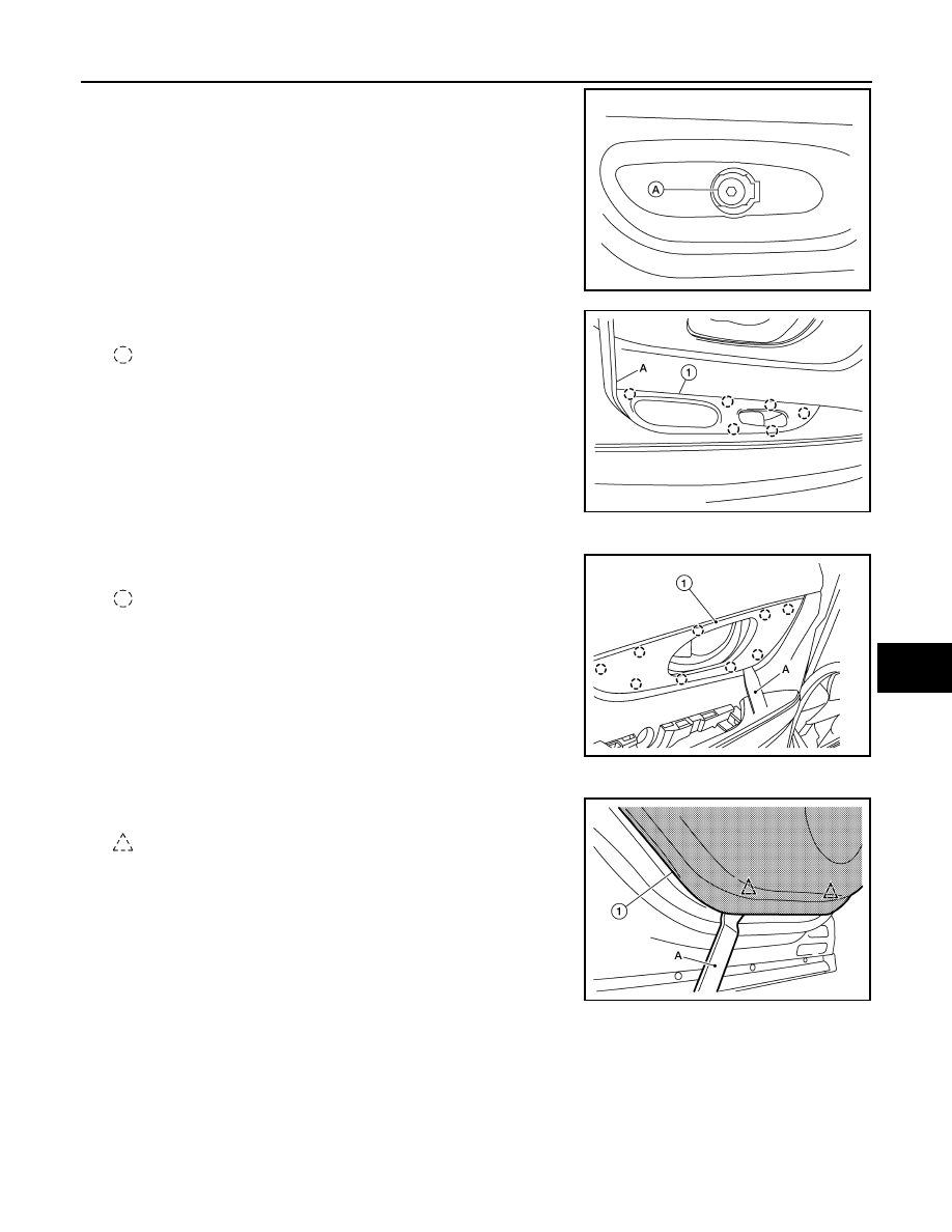 Nissan Rogue Service Manual: Main power window and door lockunlock switch