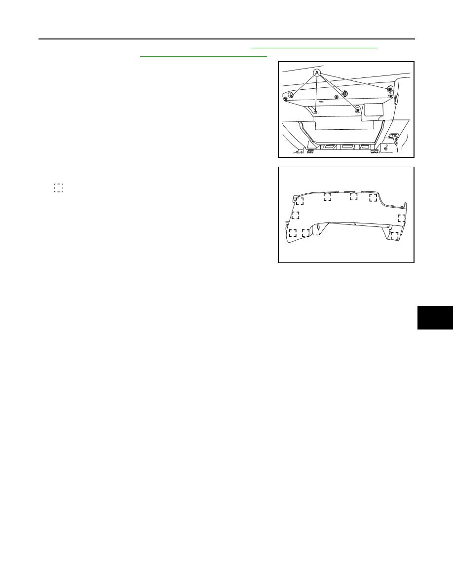 Nissan Rogue Service Manual: Cluster lid C
