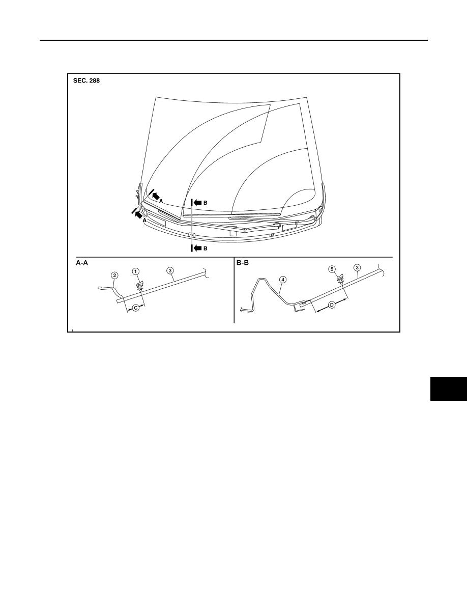 Nissan Rogue Service Manual: Cowl top