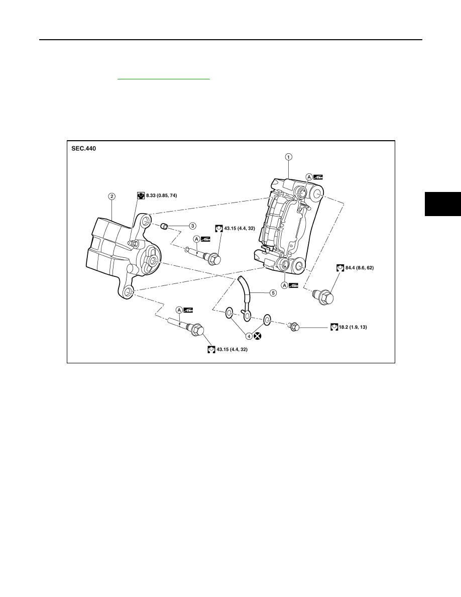Nissan Rogue Service Manual: Rear disc brake