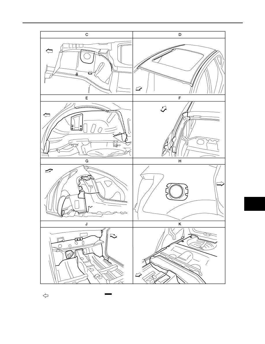 Nissan Rogue Service Manual: Body construction