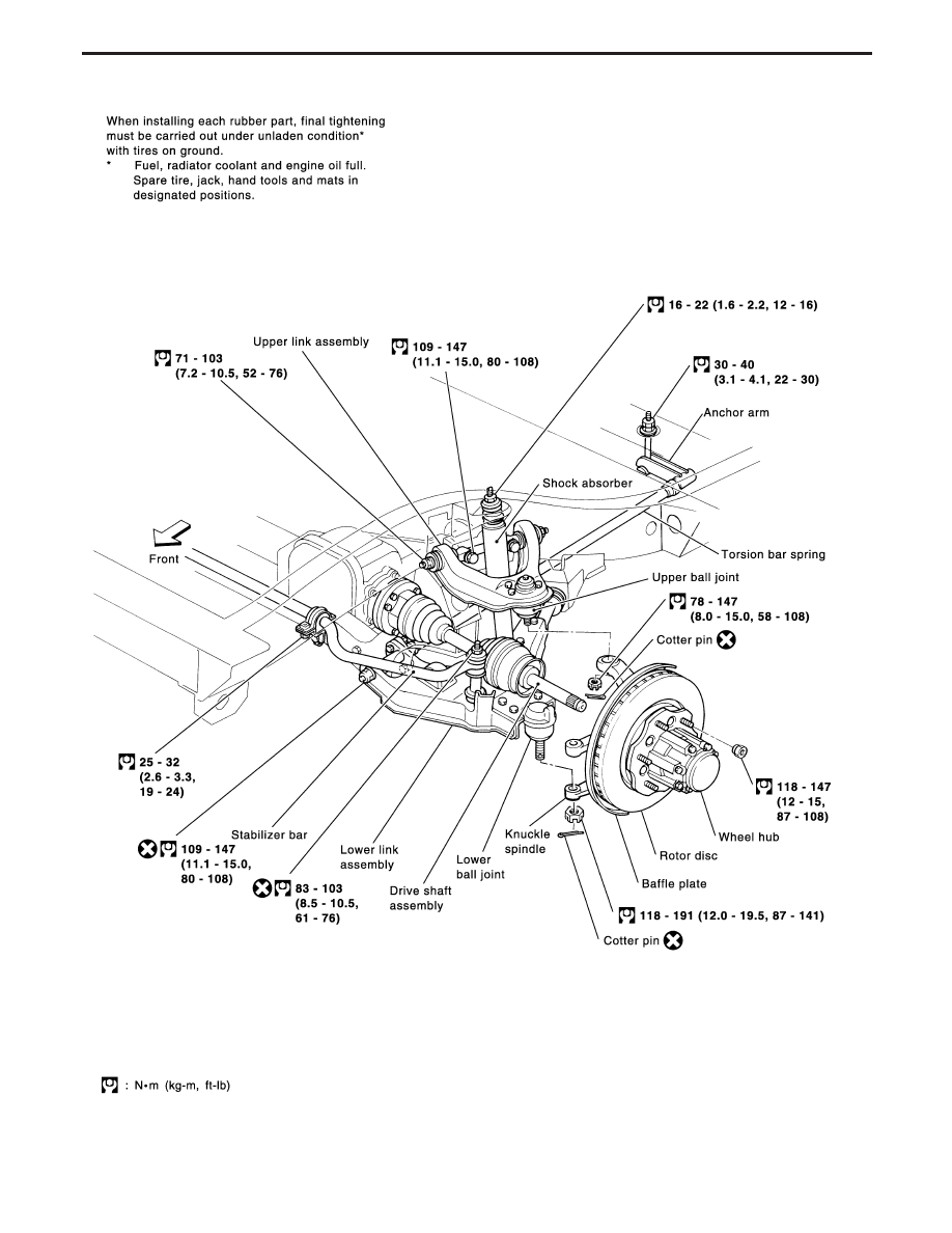 Nissan Terrano R20e Manual Part 315 Wheel Hub Diagram Yfa003