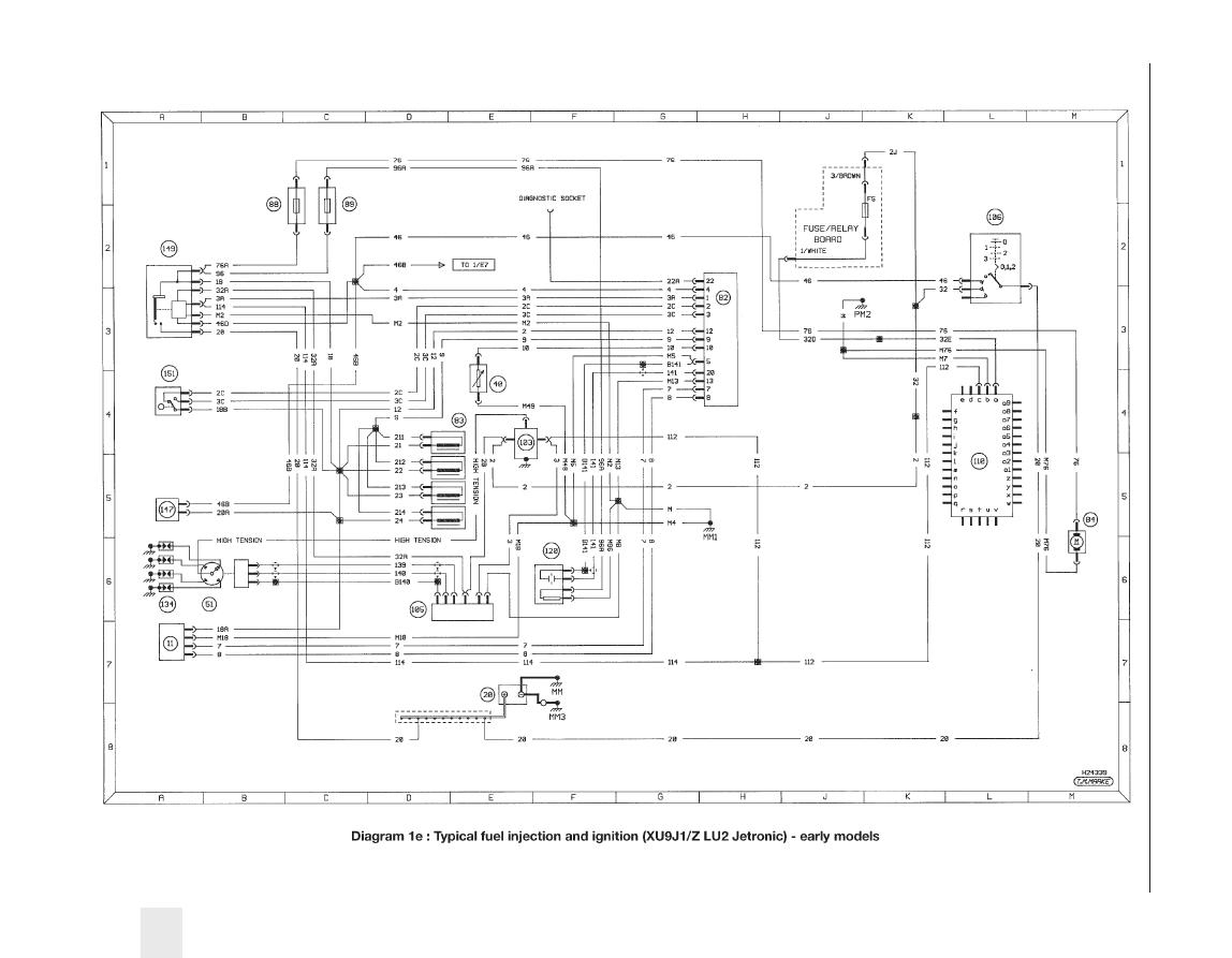 Peugeot 405 Wiring Digram