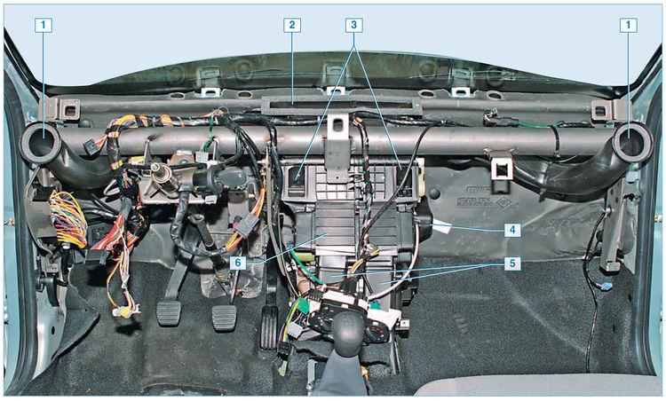 renault logan система отопления