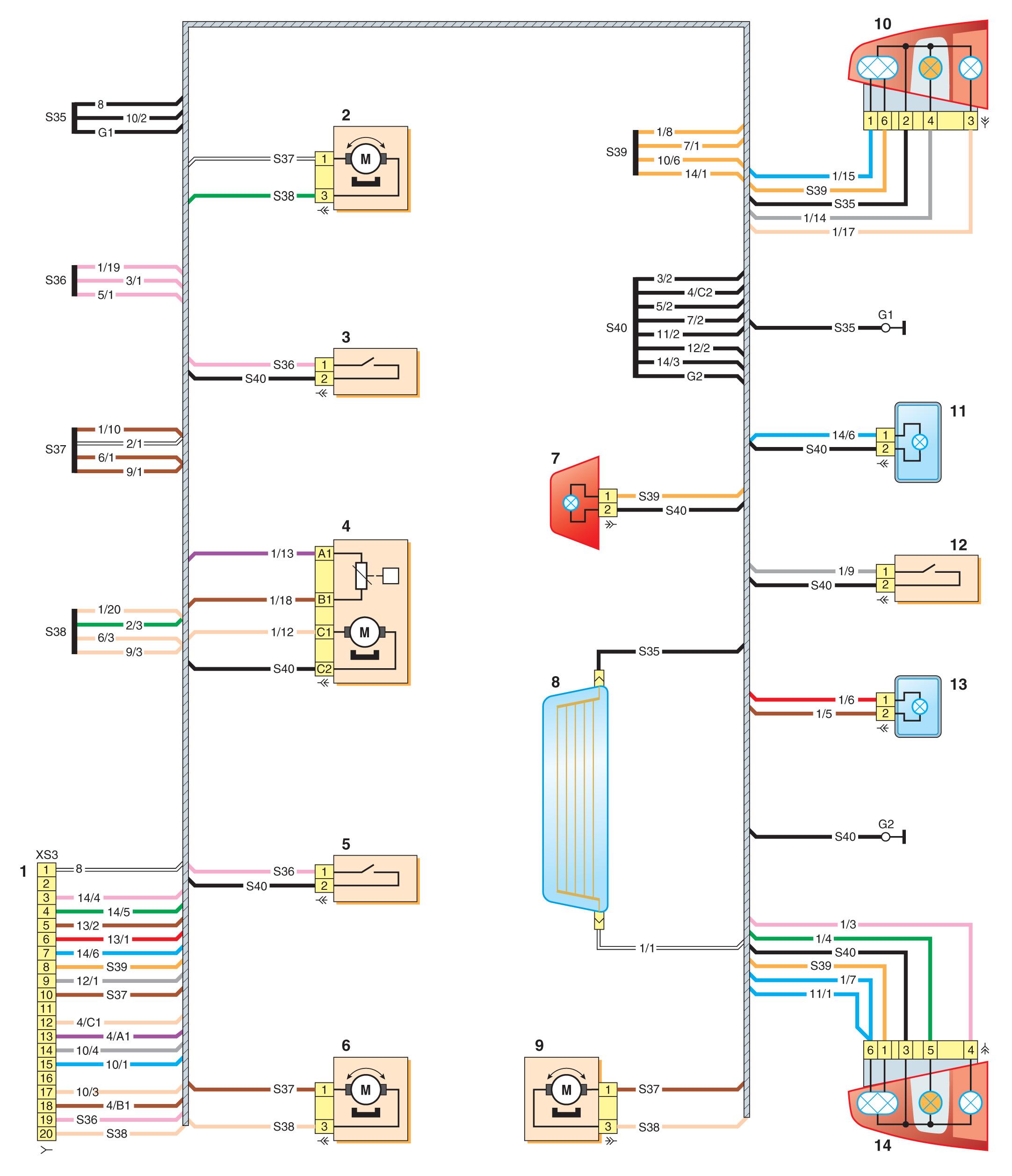Задние фонари логан схема