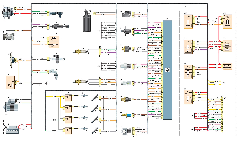 схема расположения датчиков renault k4jc750