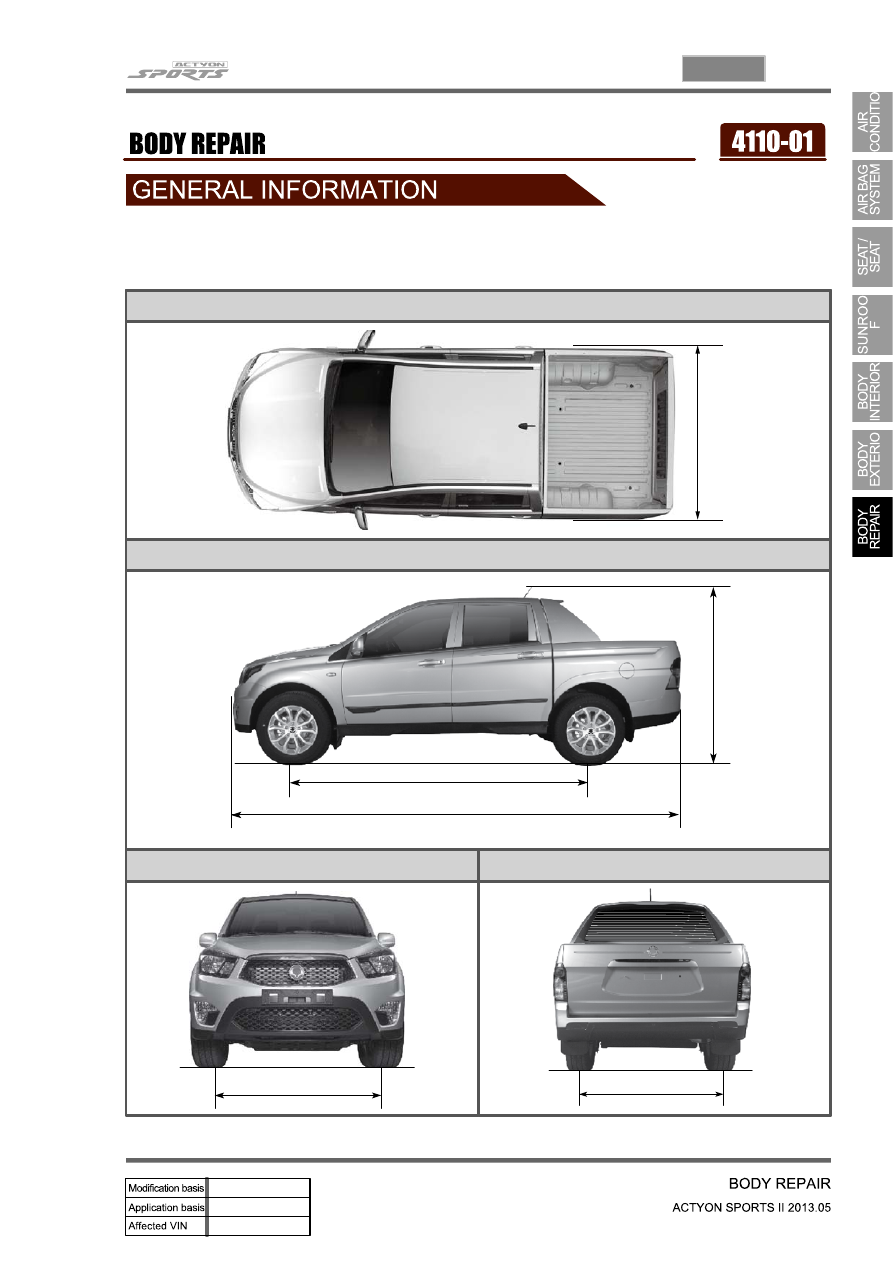 Ssangyong Actyon Sports Owners Manual